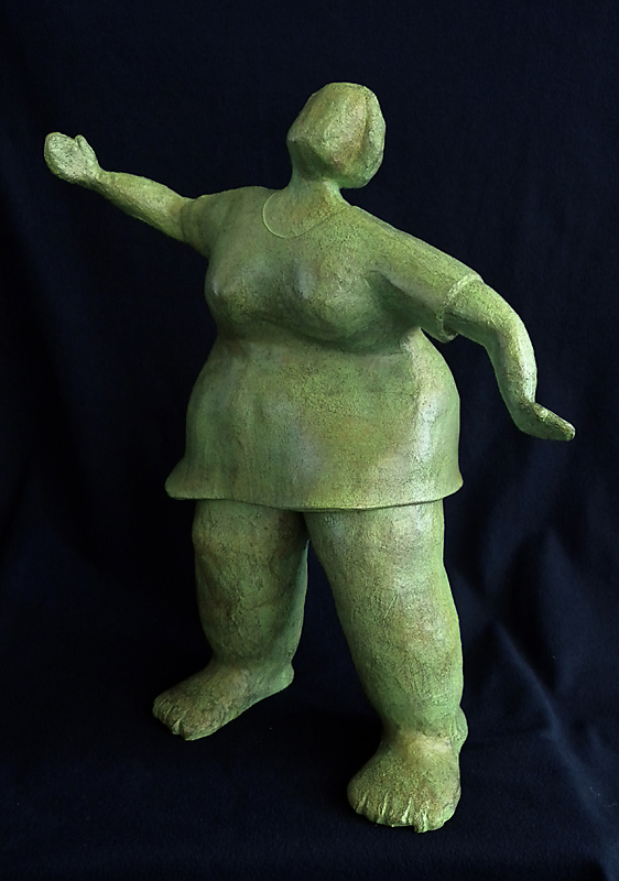 Twinkle Toes, terracotta with acrylic patina, 20x6, 2011
