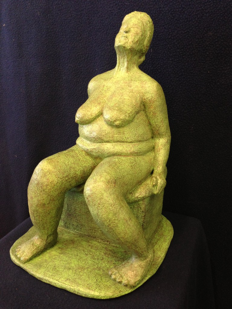 The Model, Terracotta with acrylic patina, 2014