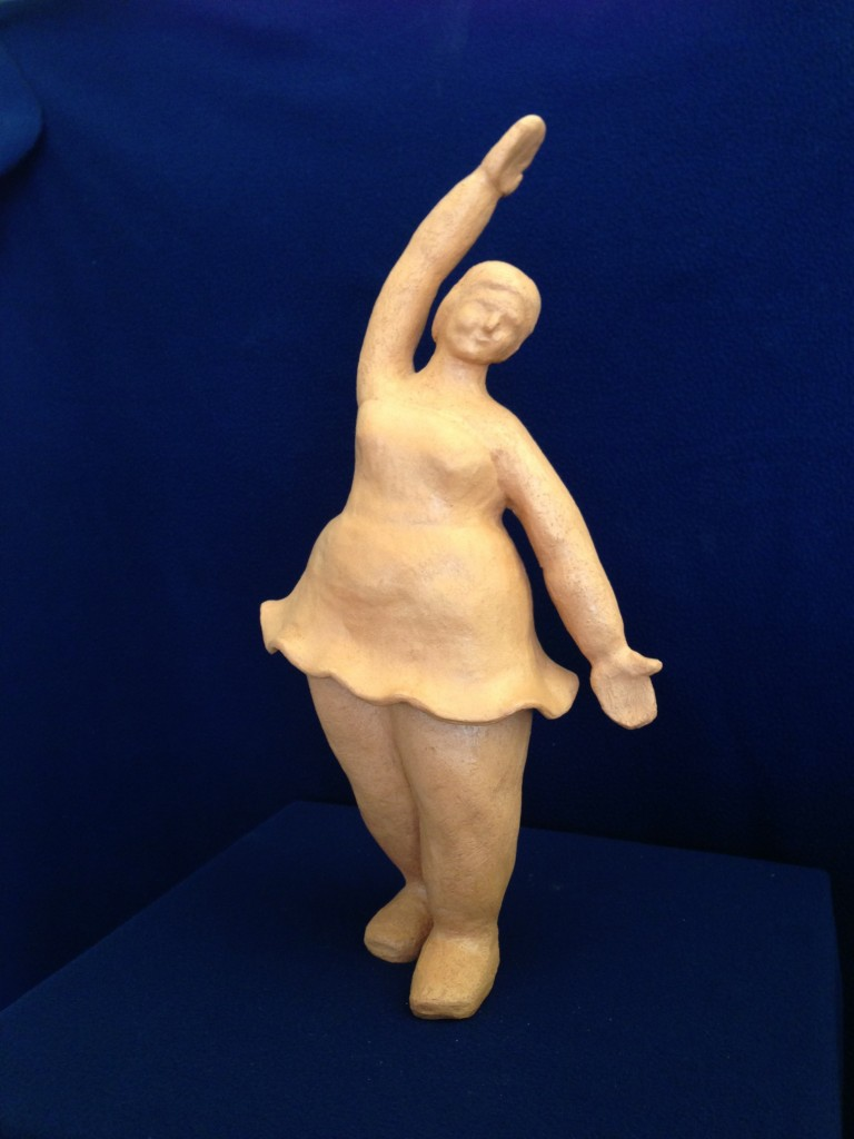 Ballerina Dreaming  terracotta,  16x4, 2014