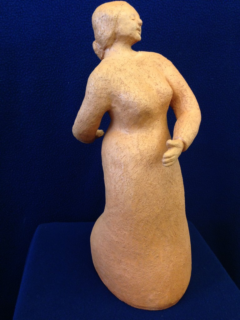 The Dancer, terra cotta, 14x4, 2014